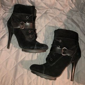 Guess Black Heeled Boots